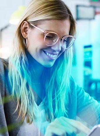 Brillengläser mit Blaufilter